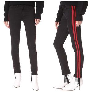 Siwy Marion Sport Stirrup Jeans Red Racing Stripe